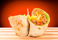 Half of burrito Stock Photo