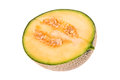Half a cantaloupe melon Royalty Free Stock Photo