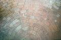 Half circle orange brick background Royalty Free Stock Photo