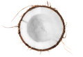 Half of coconut top view Royalty Free Stock Photo