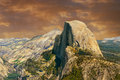 Half dome beautiful image of from glacier point yosemite Stock Images