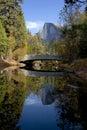 Half Dome behindSentinel Bridge Royalty Free Stock Photo