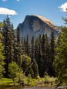 Half Dome Mountain, Yosemite Valley Forest and River