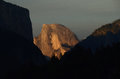 Half Dome at Sunset Royalty Free Stock Photo