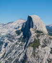 Half dome vista in yosemite national park Stock Photography