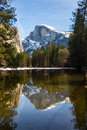 Half dome in Winter Royalty Free Stock Photo