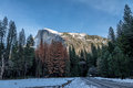 Half Dome at winter  - Yosemite National Park, California, USA Royalty Free Stock Photo