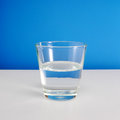 Half empty or half full glass of water (#2) Royalty Free Stock Photo