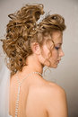 Half face of a bride Royalty Free Stock Photo