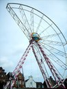 Half ferris wheel at husum and amusement park little town the north sea Royalty Free Stock Images