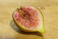 Half of a Fig Royalty Free Stock Photo