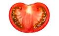 Half fresh tomato Royalty Free Stock Photo