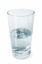 Half full glass of water Royalty Free Stock Photo