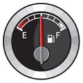 Half gas tank vector illustration of the Royalty Free Stock Photos