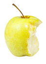 Half of golden delicious apple isolated on white background Royalty Free Stock Photo