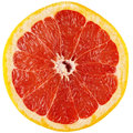 Half of grapefruit bright red with small glare Royalty Free Stock Photo