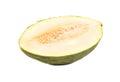 Half of green melon Royalty Free Stock Photo