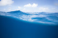 Half and Half of Ocean Surface Royalty Free Stock Photo