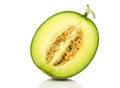 Half Japan melon slice Royalty Free Stock Photo
