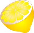 Half lemon Royalty Free Stock Photos