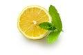Half lemon and fresh mint Royalty Free Stock Photo