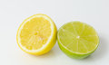 Half Lemon and Half Lime Royalty Free Stock Photo