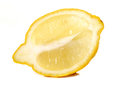 Half a lemon studio cutout Stock Image