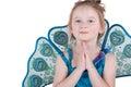 Half-length portrait of little girl in fancy dress Stock Image