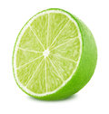 Half of lime isolated on white background Royalty Free Stock Photo