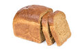 Half a loaf of rye bread Royalty Free Stock Photo