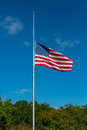 Half Mast Royalty Free Stock Photo