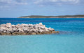 Half moon cay private island owned by carnival cruise lines Stock Images