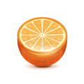 Half of orange fruit isolated on white background Stock Photography