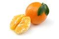 Half Orange and Orange Royalty Free Stock Photo