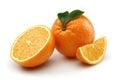 Half Orange and Orange Slice Stock Photo