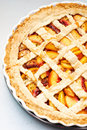Half a peach pie Stock Photos