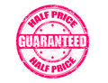 Half price stamp Stock Photo