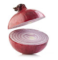 Half red onion Royalty Free Stock Photo