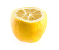 Half of ripe lemon. Stock Photo