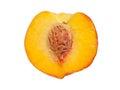 Half ripe peach