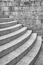 Half round staircase at old church dubrovnik croatia distinctive the south entrance to the dominican monastery in Stock Photography