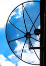 Half Satellite dish Stock Image