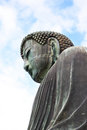 Half side of daibutsu at kamakura japan Royalty Free Stock Image