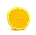 Half side of lemon on white Stock Photos