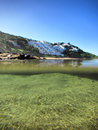 Half-submersed photo of beach Royalty Free Stock Photo