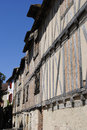 Half timbered house in bergerac france Stock Photo
