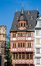 Half-timbered house in Frankfurt Stock Images