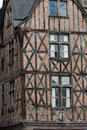 Half timbered house in tours loire valley france Stock Images