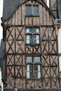 Half timbered house in tours loire valley france Royalty Free Stock Photos