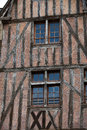 Half timbered house in tours loire valley france Royalty Free Stock Images